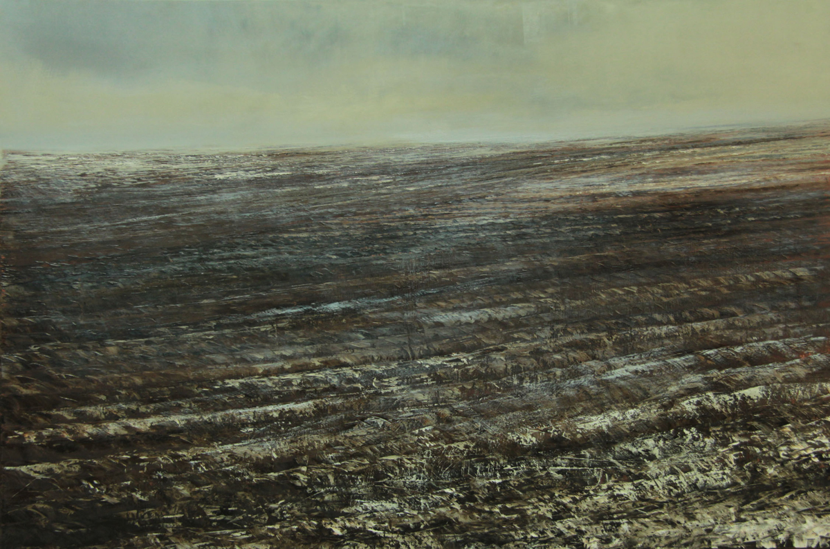 32.The wind on the fields.120x180cm.Oil on canvas