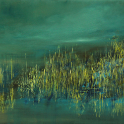 15.Dense lake.Oil on canvas.70x130cm
