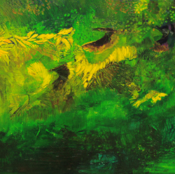 3.Pulling feathers. Oil on canvas. 70x180cm